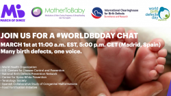 Join the World Birth Defects Day Twitter chat