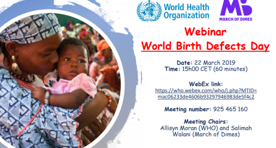 World Birth Defect Day Webinar
